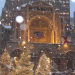 St. Bartholomew's Church Christmas exterior